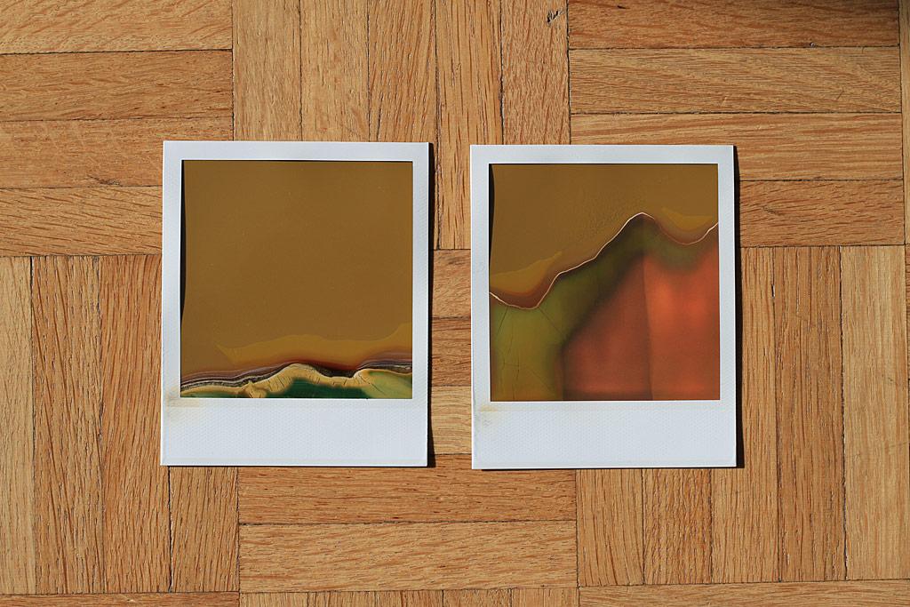 Photos avec de l'ancien film Polaroid
