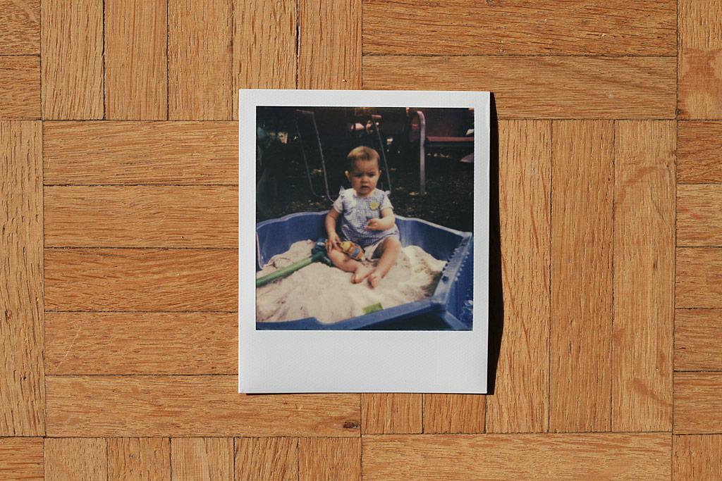 Une photo faite avec du film Impossible et un appareil Polaroid 600