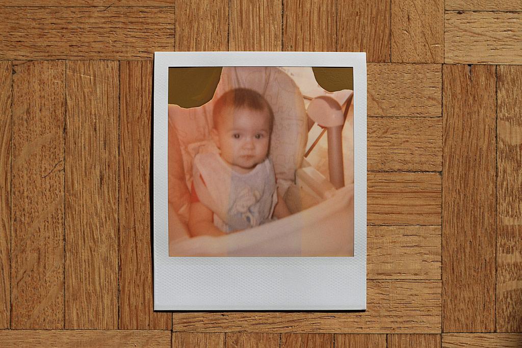 Photo avec du film Polaroid original