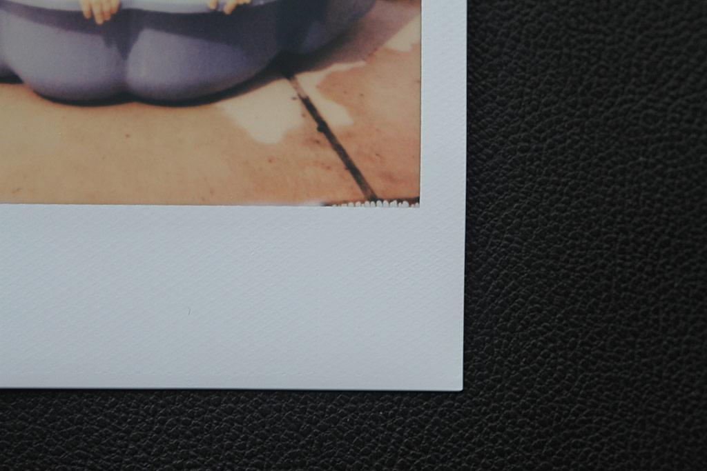 Défaut film pour Polaroid Impossible