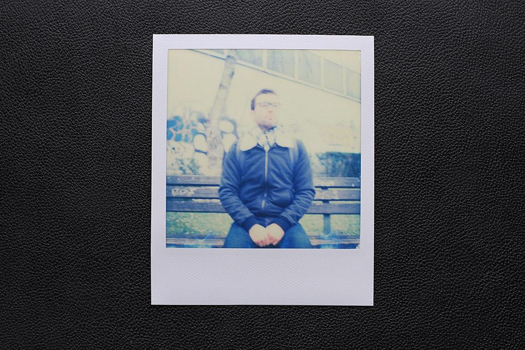 Polaroid flou avec un SX-70