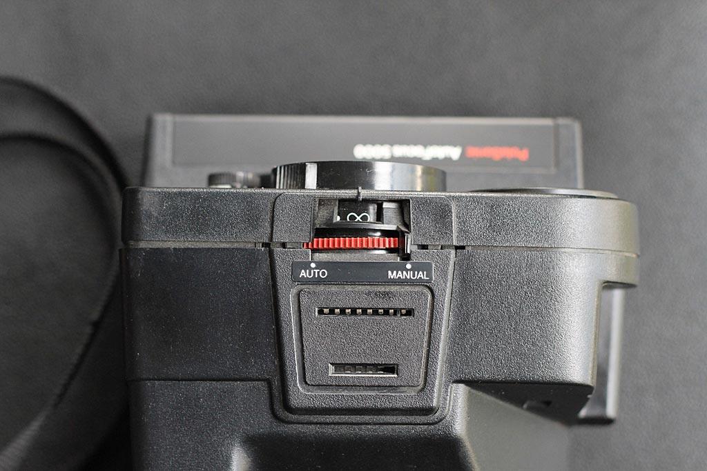 Polaroid AutoFocus 5000 vue de dessus.
