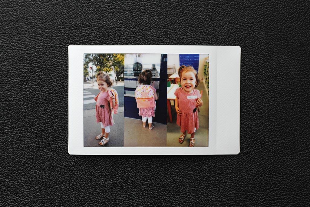 Une fonction de l'application vous permet de combiner plusieurs images sur une même impression Instax Mini.