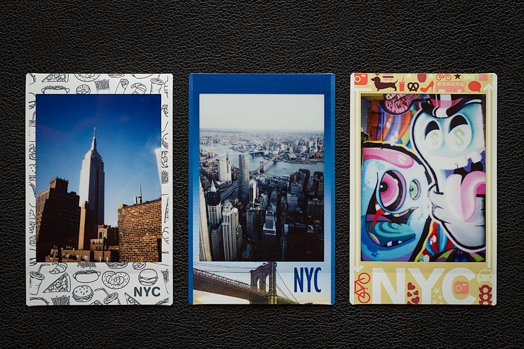 Quelques photos prises avec les films Instax Mini NYC Edition.