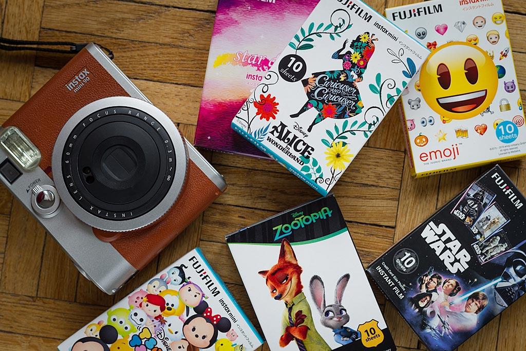 On trouve facilement des dizaines ou des centaines de films Instax Mini thématiques sur internet.