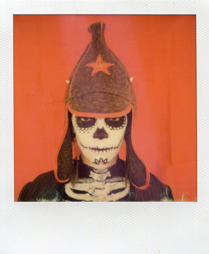 Dia de muertos 1, Polaroid portrait, photo Florent Dudognon
