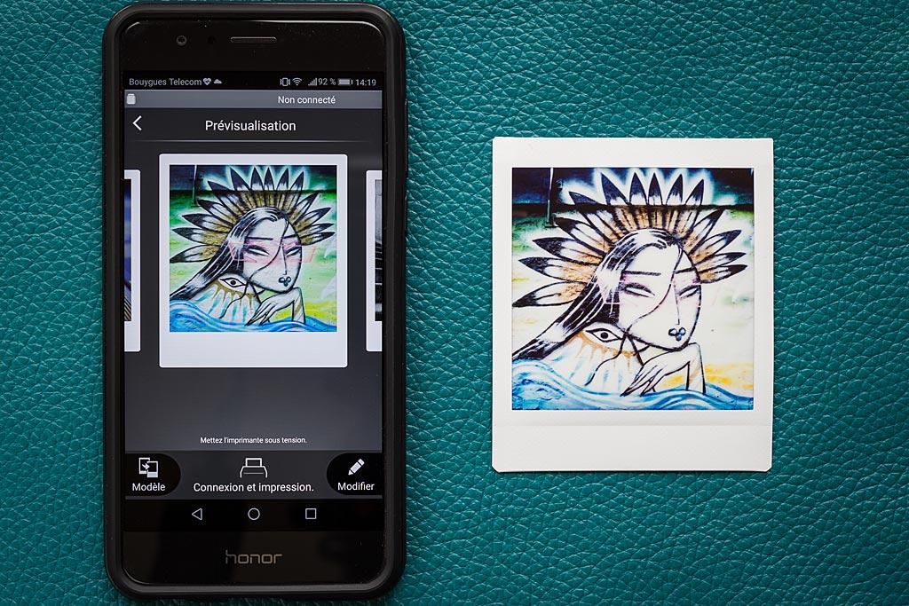 L'Instax Share SP-3 vous laisse imprimer tous types d'images présentes sur votre téléphone.