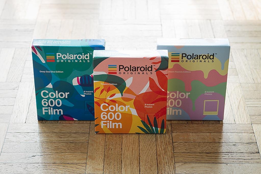 Polaroid Originals fait honneur à la saison estivale avec la sortie de trois films spéciaux : Ice Cream Pastels , Tropics et Deep Sea Dive. Youpi !