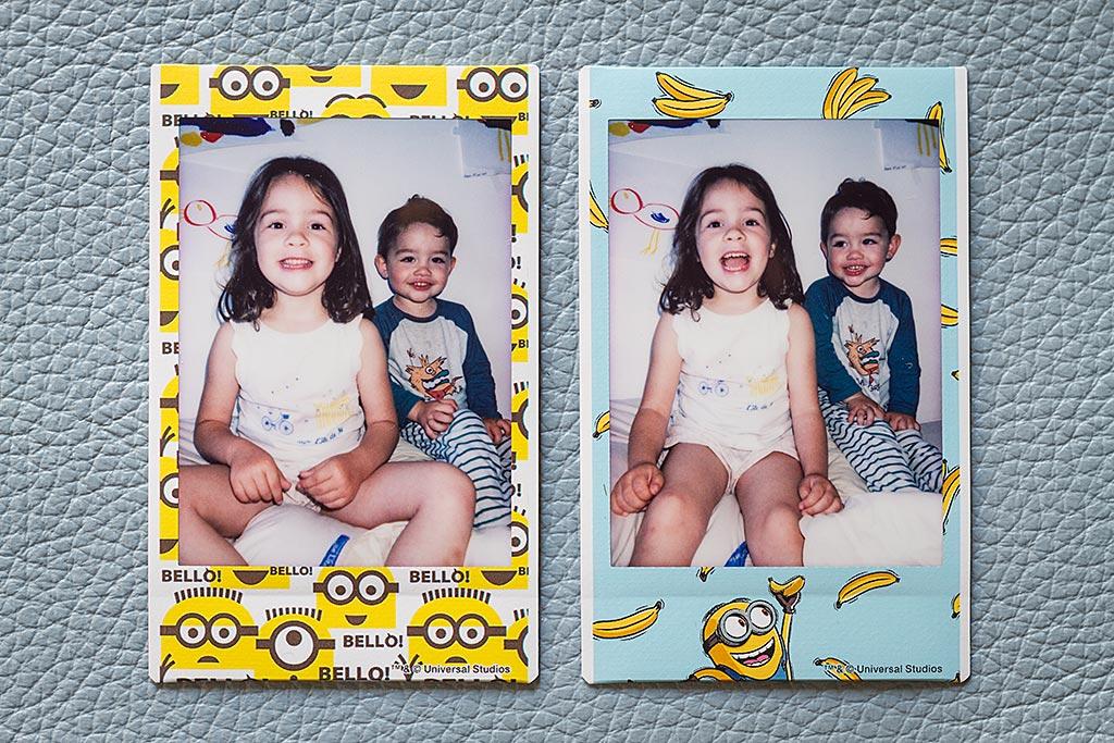 2 photos prises avec le film Instax Mini Minion