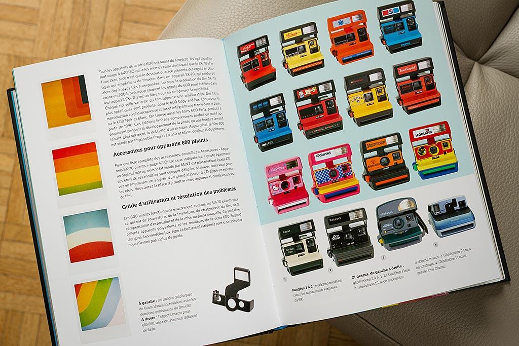 Toutes les grandes familles d'appareils Polaroid sont présentées dans le livre de Rihannon Adam