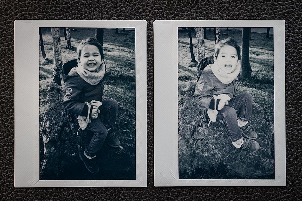 A gauche : sans flash, à droite : avec flash. Il était sans doute de trop, ici.