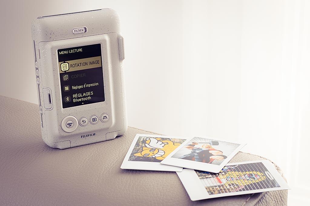 L'Instax Mini LiPlay offre de multiples options, que ce soit pour prendre ou modifier des images.